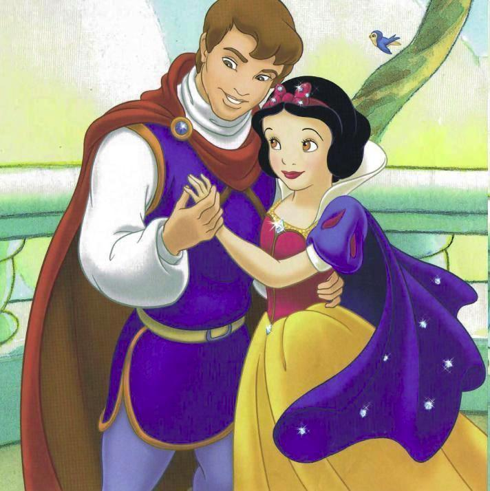Princess Snow White and Prince Cartoons