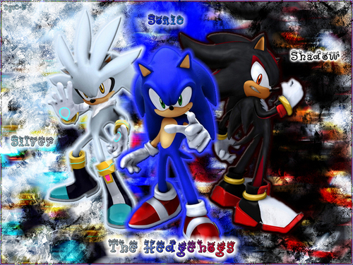 Sonic and silver and shadow