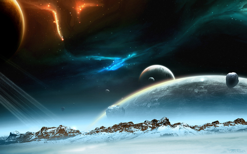 अंतरिक्ष Art वॉलपेपर