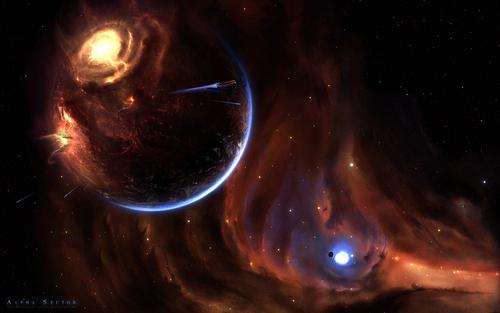 luar angkasa Art wallpaper