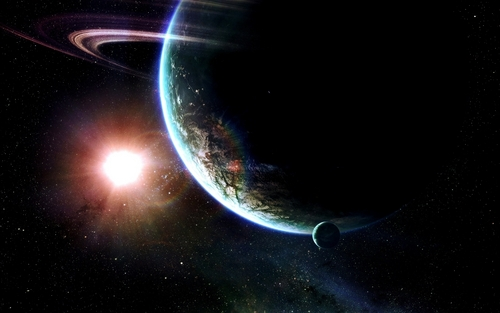 Space Art karatasi la kupamba ukuta