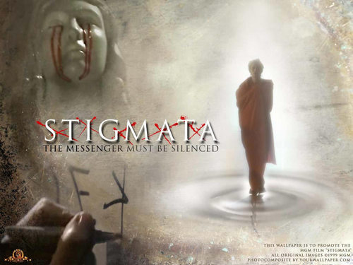 ホラー映画 壁紙 possibly with a sign titled Stigmata