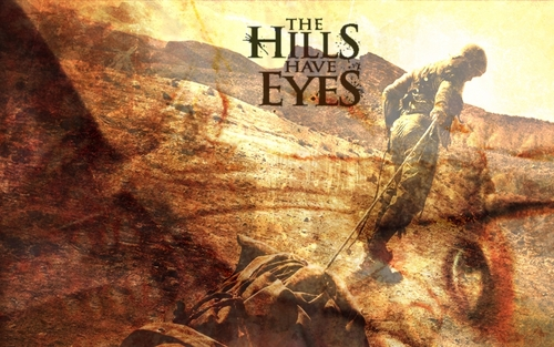 Horror films achtergrond possibly with anime entitled The Hills Have Eyes