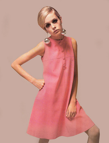 The 60's wallpaper containing a cocktail dress called Twiggy the model