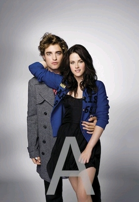 Edward and Bella wallpaper containing a well dressed person and an outerwear entitled Twilight