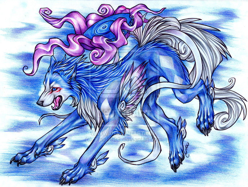 anime wolves drawings. Wolves