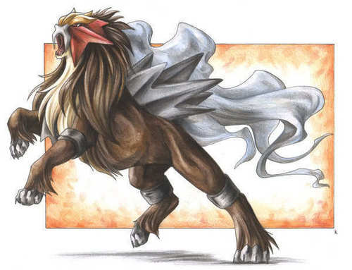 Entei - anime-animal Fan Art