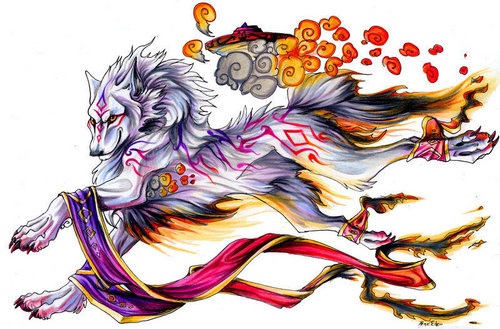anime animal achtergrond probably containing a red cabbage entitled Wolves