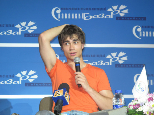 alexander on press conference  in vitebsk
