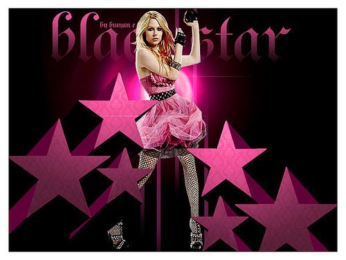 black étoile, star