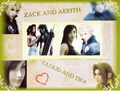 awan and tifa zack and aerith wallpaper