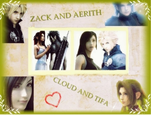 cloud and tifa zack and aerith wallpaper