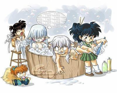 cuties of inuyasha batheing