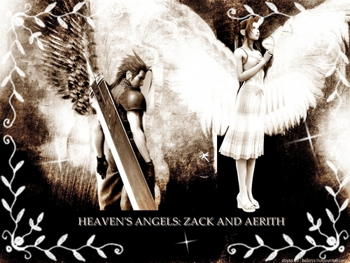 Final Fantasy VII achtergrond probably containing an abattoir titled heaven's angels: zack and aerith