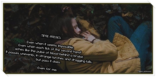 new moon - time passes