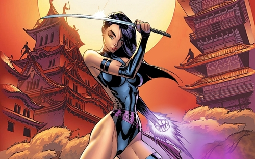 X-Men wallpaper possibly containing anime titled psylocke