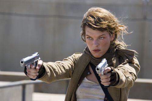 Milla Jovovich karatasi la kupamba ukuta titled resident evil extinction