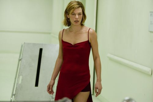 Milla Jovovich karatasi la kupamba ukuta possibly with a maillot and a leotard called resident evil extinction