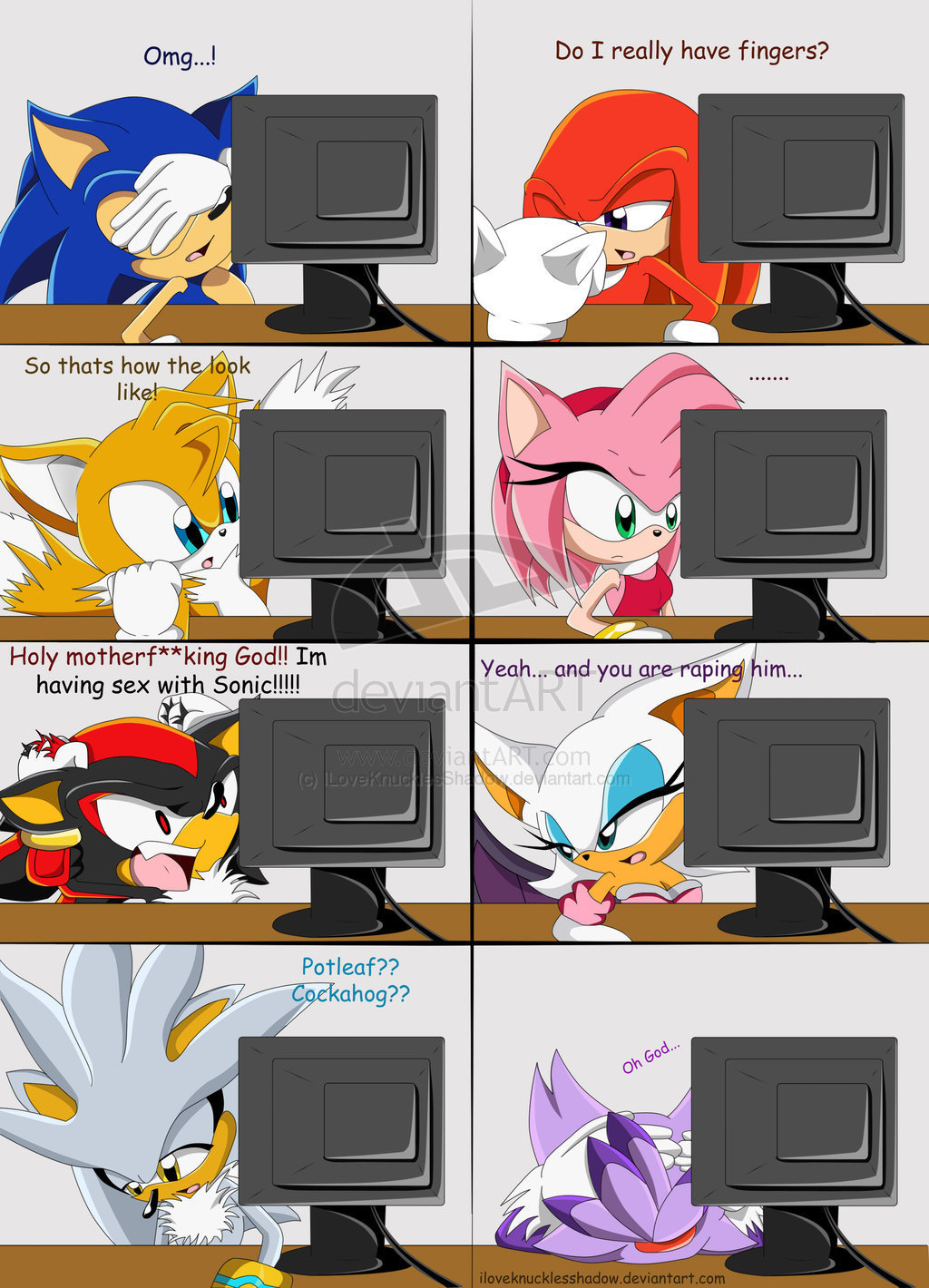 Sonic, Shadow, and Silver shadow's big secret (really funny)