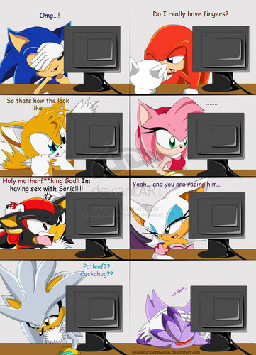 shadow's big secret (really funny) - sonic-shadow-and-silver Photo
