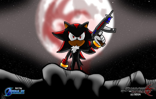 shadow with gun