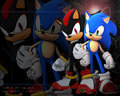 sonic and shadow - sonic-shadow-and-silver wallpaper