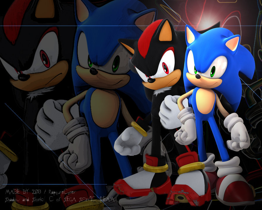 Sonic, Shadow, and Silver sonic and shadow