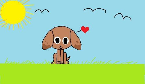 stupid the dog i did it my self in paint