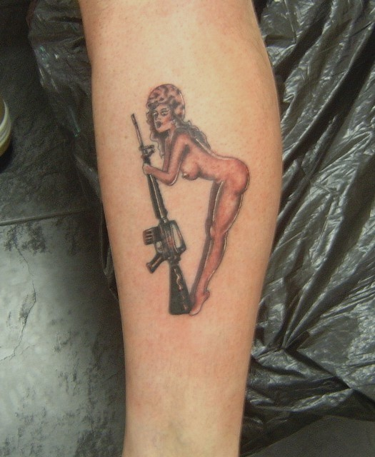 pinup girl tattoos. pinup girl tattoos. Few pin-up posters are as sought by