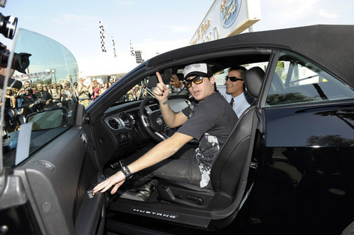 Adam in his new car!