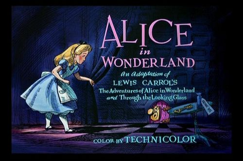 Classic Disney wallpaper with a sign called Alice in Wonderland