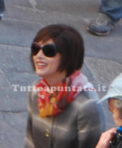 Ashley on set New Moon (italy)