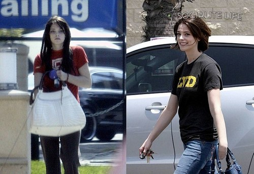 Alice Cullen kertas dinding with a jalan and an automobile titled Ashley with hair extensions
