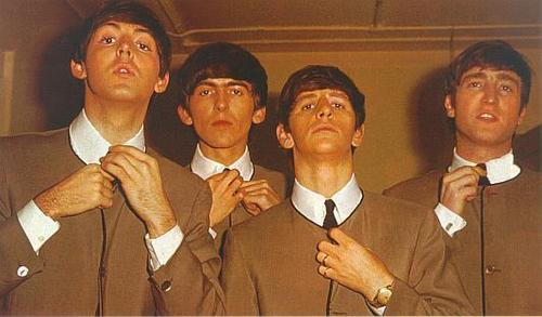The Beatles Wallpaper Containing A Business Suit And Called Rare Color Photo