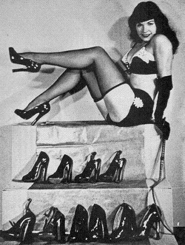 Bettie and her shoes
