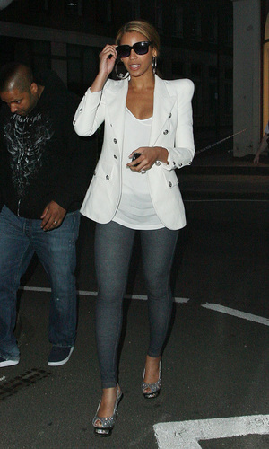 Beyonce out in London with Jay Z