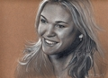 Black and White Sketch of Julia Stiles