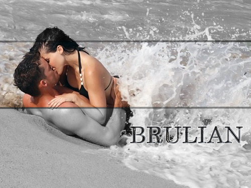 Brooke and Julian karatasi la kupamba ukuta containing a hot tub and a mwogaji, mwogaji ina titled Brulian