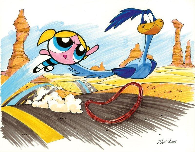 Bubbles racing roadrunner