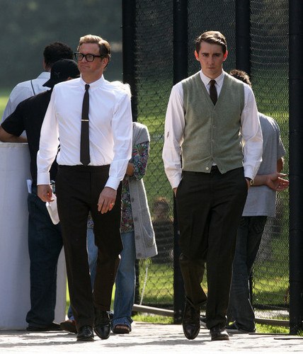 Colin Firth on set of A Single Man