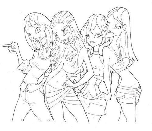 Courtney, Izzy, Gwen, Heather
