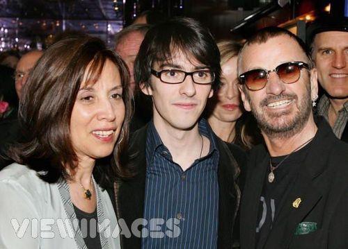 Olivia, Dhani and Ringo