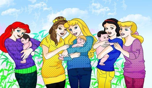 Disney Princesses...as Mothers!!