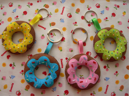 Doughnut Keychains