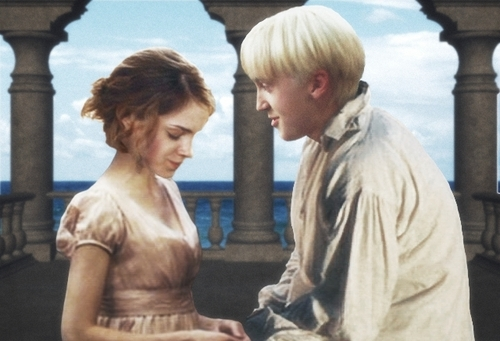 Dramione wallpaper probably with a street called Draco and Hermione