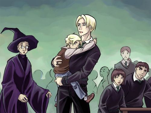 Drago Malfoy karatasi la kupamba ukuta with anime called Draco