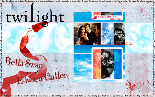 Edward and Bella - Twilight Fanfiction fond d'écran (7100928