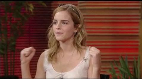 Emma in Live with Regis and Kelly