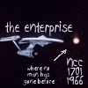 star trek ships photo probably containing a sign entitled Enterprise NCC-1701