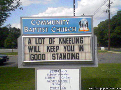 Funny Church Sign